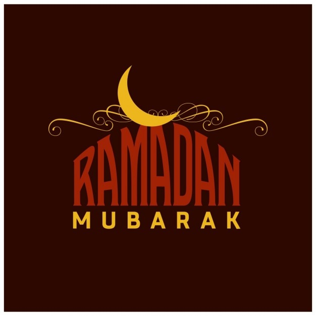 Ramadan vintage-englisch typografie hintergrund Kostenlosen Vektoren