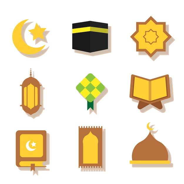 Ramadhan-vektor-set Premium Vektoren