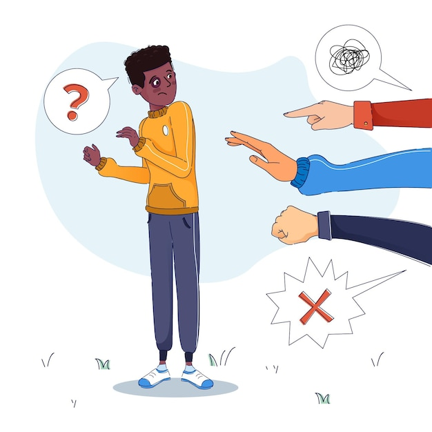 Rassismus-illustrationskonzept Kostenlosen Vektoren