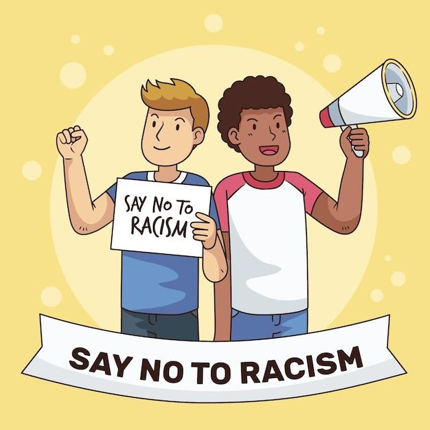 Rassismus illustrierte konzeptthema Kostenlosen Vektoren