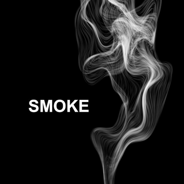 Rauchen sie auf schwarz. Premium Vektoren