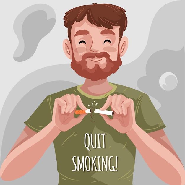 Raucherentwöhnung illustration Kostenlosen Vektoren