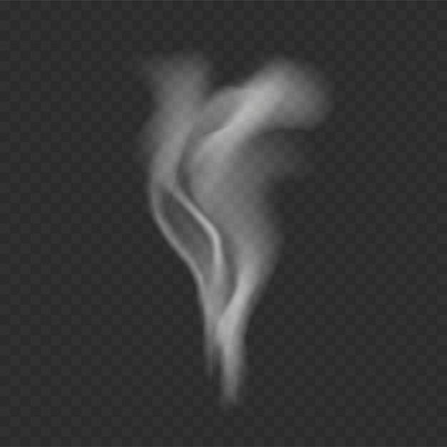 Rauchschablone auf transparentem hintergrund Kostenlosen Vektoren
