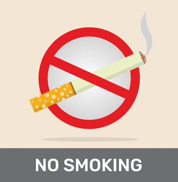 Rauchverbot mit zigarette. Premium Vektoren