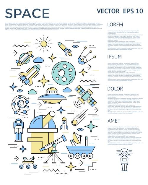 Raum vertikale infografik Kostenlosen Vektoren