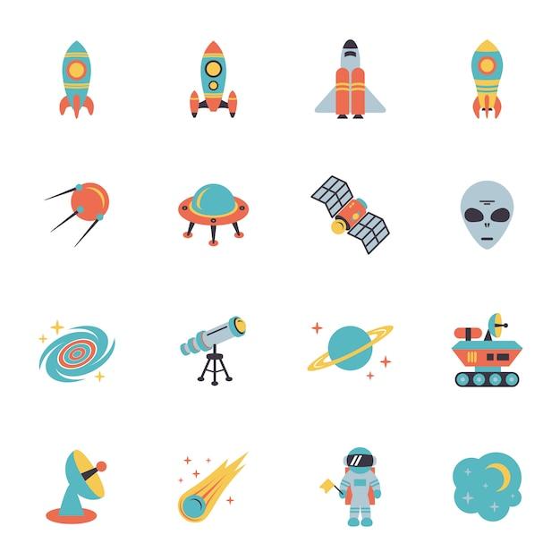 Raumikonen eingestellt Kostenlosen Vektoren