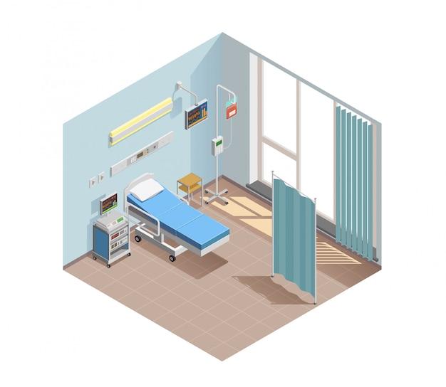 Raumillustration der medizinischen ausrüstung Kostenlosen Vektoren