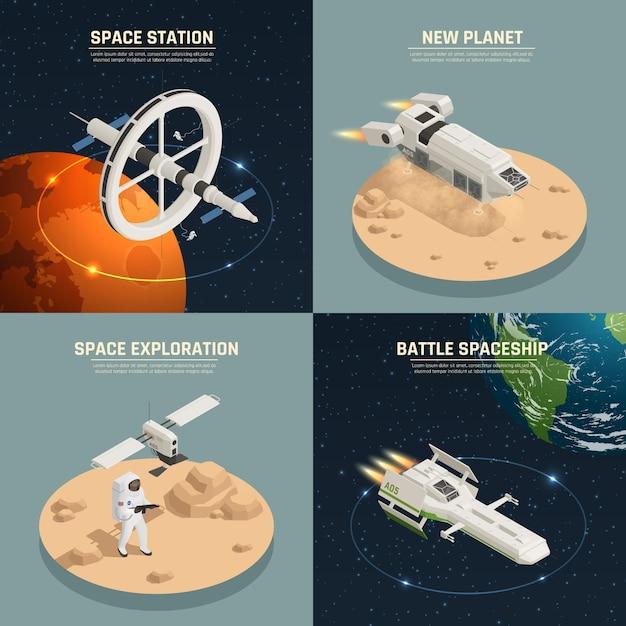 Raumschiff-design-konzept Kostenlosen Vektoren