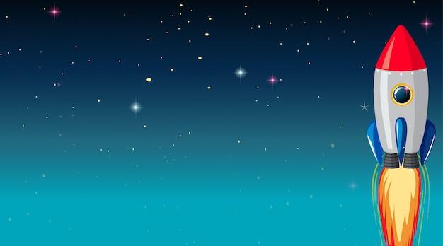 Raumschiff galaxie hintergrund Kostenlosen Vektoren