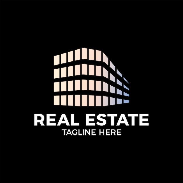 Real estate construction logo-design-vektor-vorlage. Premium Vektoren