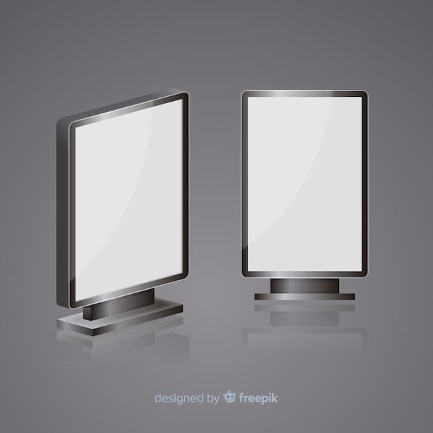 Realisticlight box plakatwand Kostenlosen Vektoren