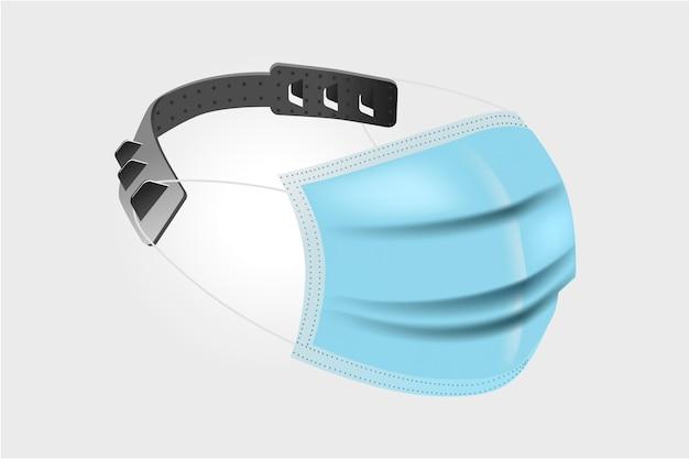 Realistisch verstellbarer medizinischer maskenriemen Kostenlosen Vektoren
