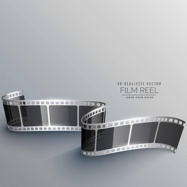 Realistische 3d-filmstreifen Kostenlosen Vektoren
