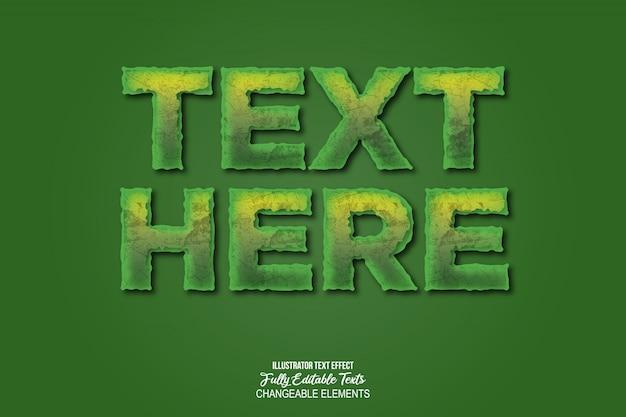 Realistische 3d-text-effekt-stil Premium Vektoren