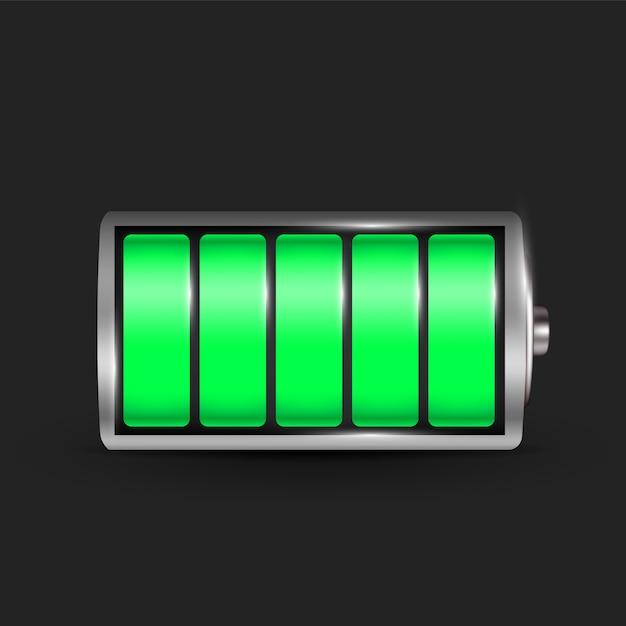 Realistische alkali-batterie. Premium Vektoren