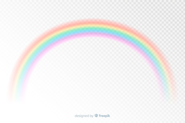 Realistische art des bunten dekorativen regenbogens Kostenlosen Vektoren