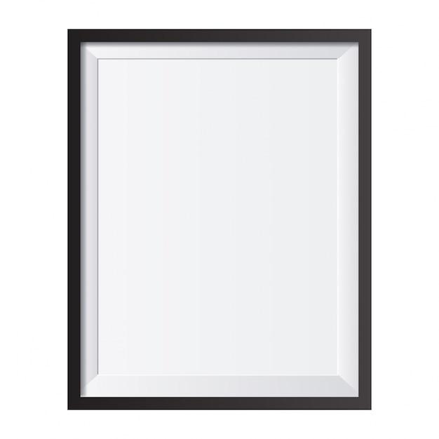 Realistische bilderrahmen isoliert auf weißem hintergrund perfekt für ihre präsentationen vektor-illustration Kostenlosen Vektoren