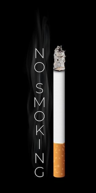 Realistische brennende zigarette. Premium Vektoren