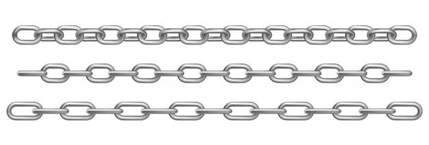 Realistische chrom-metallketten Kostenlosen Vektoren