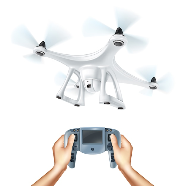 Realistische drone illustration Kostenlosen Vektoren