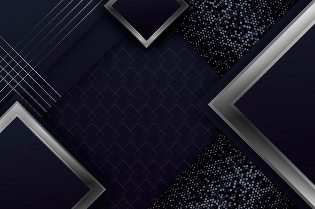 Realistische elegante geometrische formen bildschirmschoner Kostenlosen Vektoren