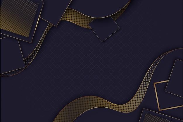 Realistische elegante geometrische formtapete Kostenlosen Vektoren