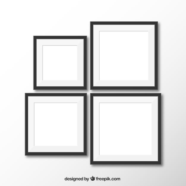 Realistische frames Kostenlosen Vektoren