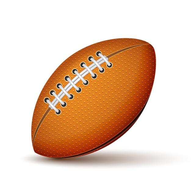 Realistische fußball- oder rugbyballikone lokalisiert Kostenlosen Vektoren