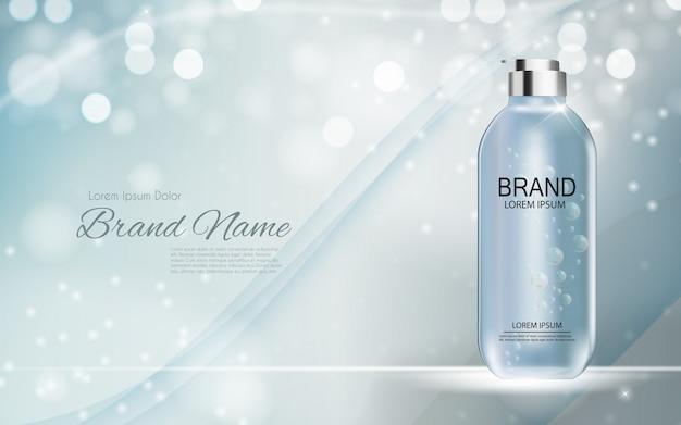 Realistische illustration des design-kosmetik-produkts 3d Premium Vektoren