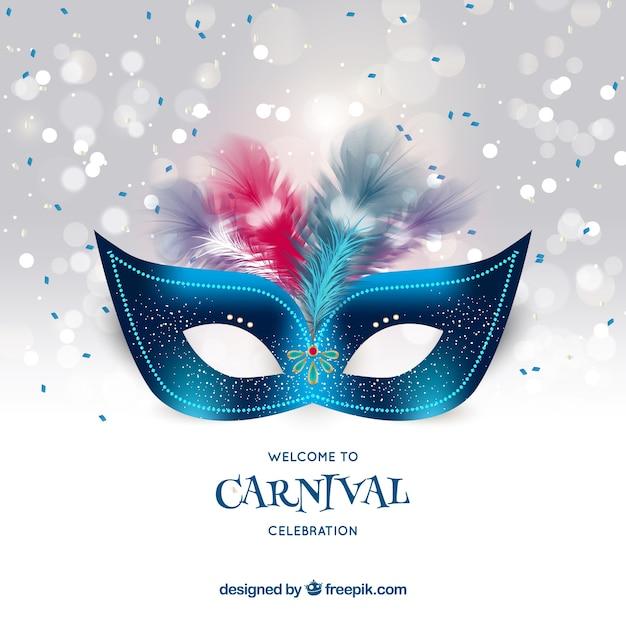 Realistische karneval hintergrund Kostenlosen Vektoren