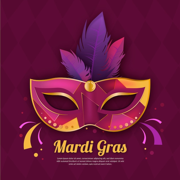 Realistische karneval mit maske Kostenlosen Vektoren