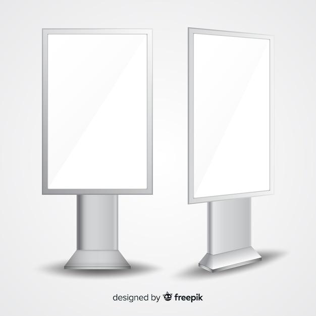 Realistische leuchtkästenwand Kostenlosen Vektoren