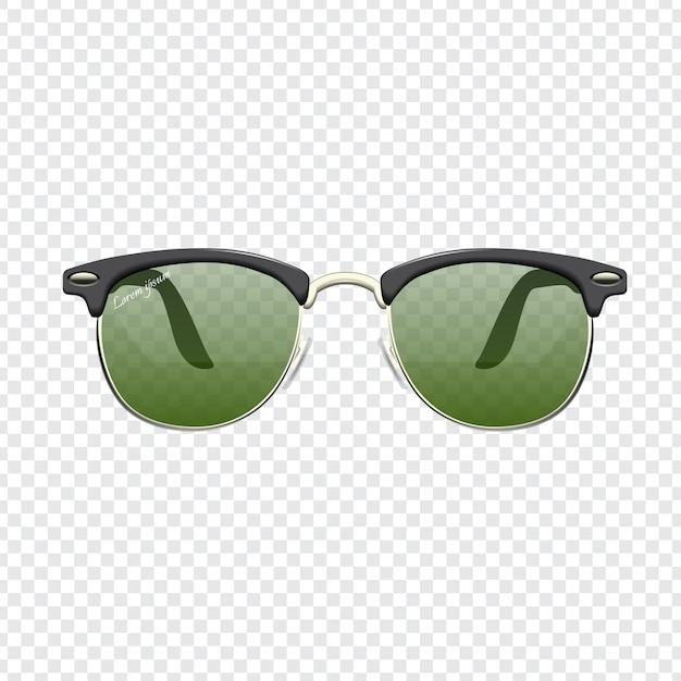 Realistische mode sonnenbrillen mit transparentem