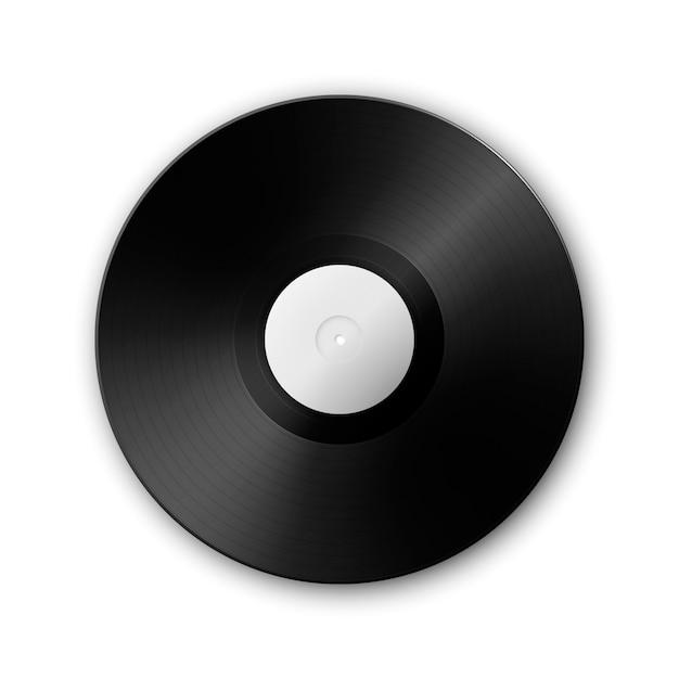 Realistische musik schallplatte schallplatte auf weiß ç Premium Vektoren