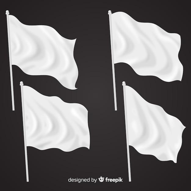 Realistische packung mit textilflaggen Kostenlosen Vektoren