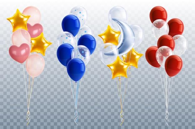 Realistische partyballons gesetzt Kostenlosen Vektoren