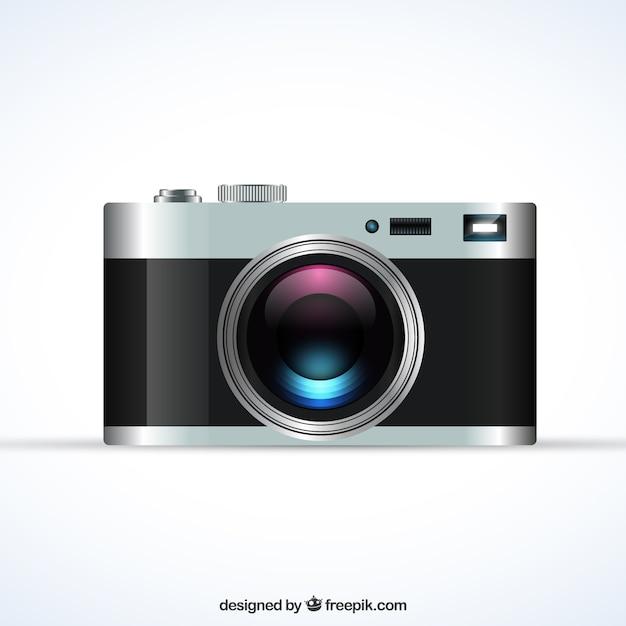 Realistische retro-kamera Kostenlosen Vektoren