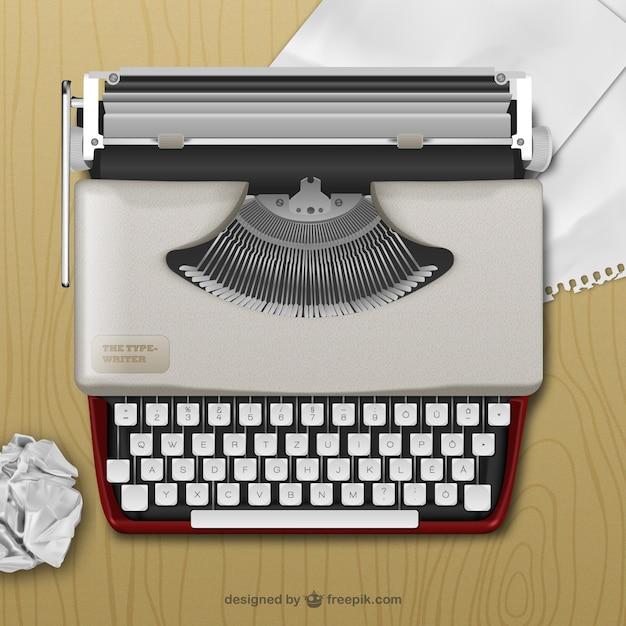 Realistische schreibmaschine Kostenlosen Vektoren