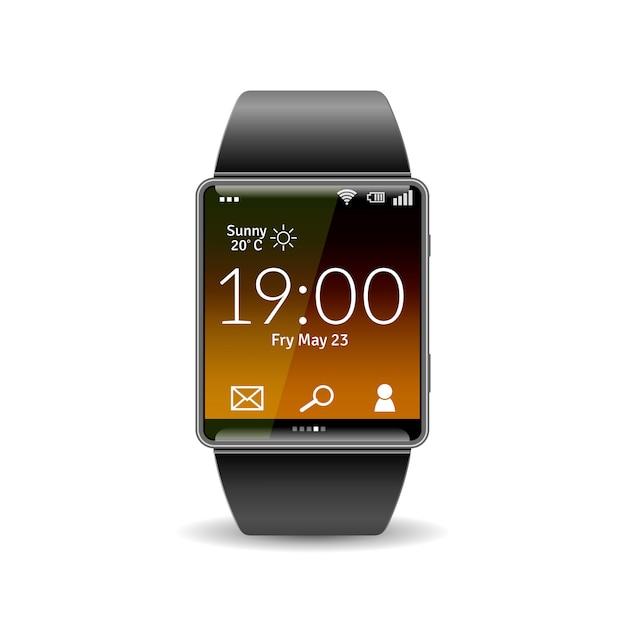 Realistische smart watch Kostenlosen Vektoren