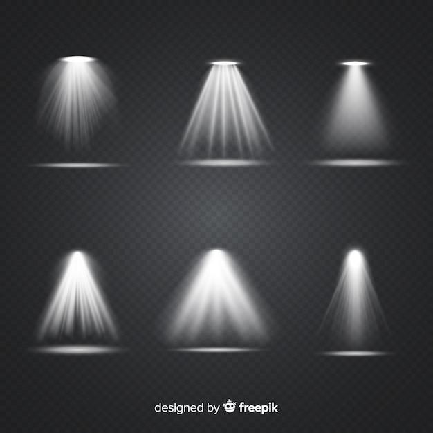 Realistische szenenbeleuchtungssammlung Kostenlosen Vektoren