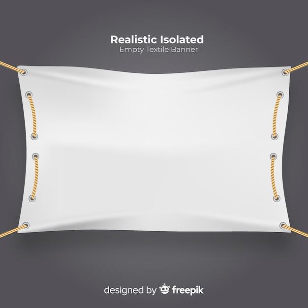 Realistische textilfahne Kostenlosen Vektoren