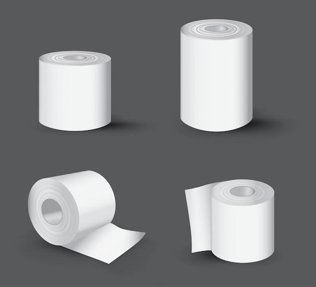 Realistische toilettenpapierrolle Premium Vektoren