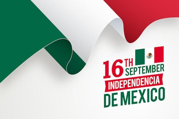 Realistische unabhängigkeit von mexiko Premium Vektoren