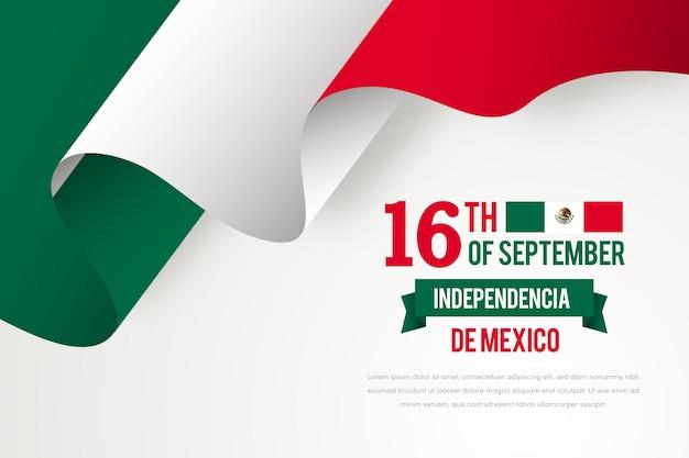 Realistische unabhängigkeit von mexiko Kostenlosen Vektoren