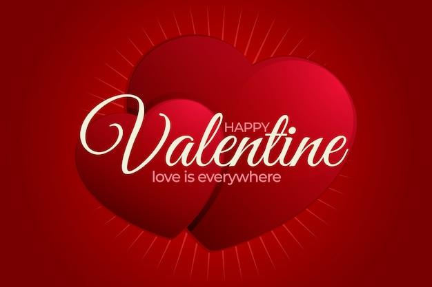 Realistische valentinstag tapete Kostenlosen Vektoren