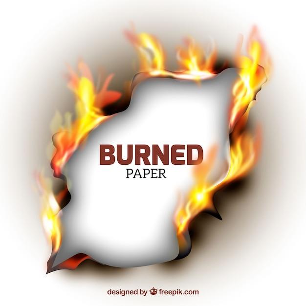 Realistische verbranntes papier textur Kostenlosen Vektoren
