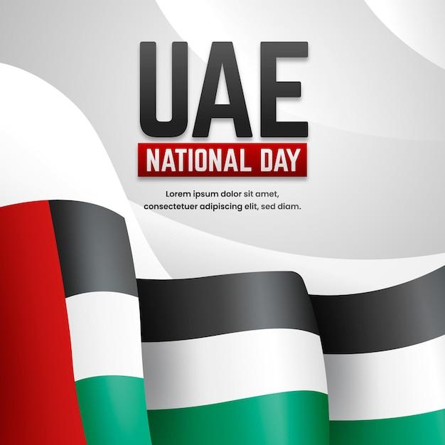 Realistische vereinigte arabische emirate nationalfeiertag hintergrund Kostenlosen Vektoren