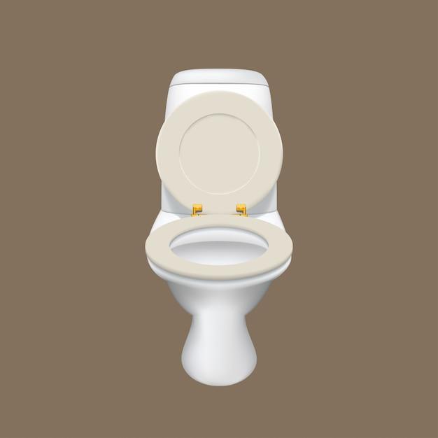 Realistische weiße toilette Premium Vektoren