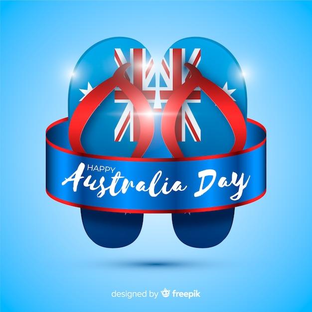 Realistischer Australien-Tageshintergrund Kostenlose Vektoren