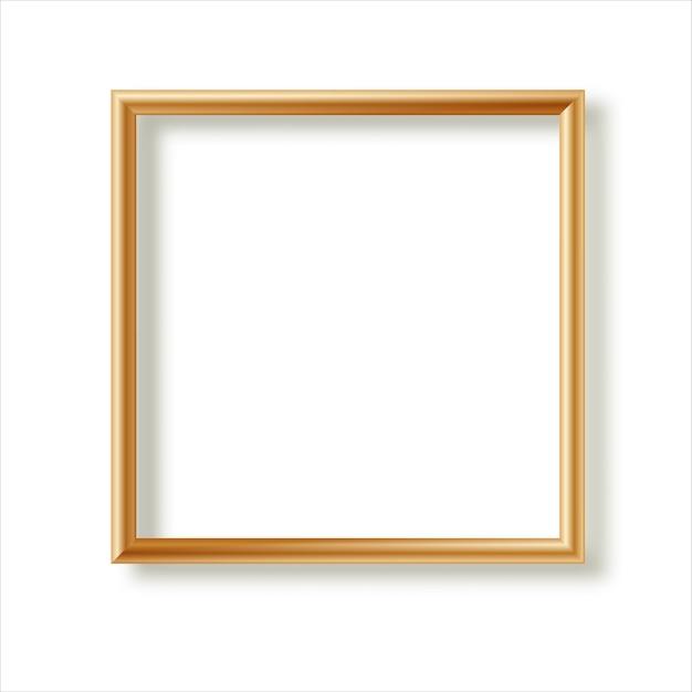 Realistischer bilderrahmen lokalisiert auf weißem hintergrund. perfekt für ihre präsentationen. illustration. Premium Vektoren